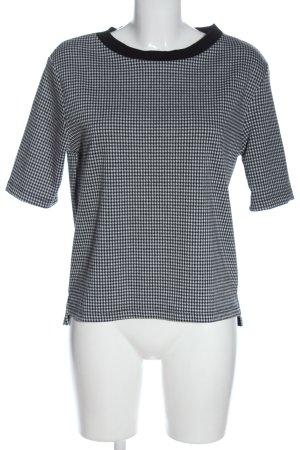 Esprit Schlupf-Bluse schwarz-weiß Allover-Druck Business-Look