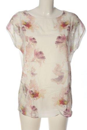 Esprit Schlupf-Bluse weiß-pink Blumenmuster Casual-Look