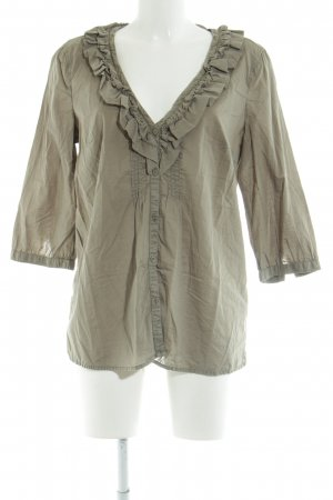 Esprit Schlupf-Bluse khaki Casual-Look