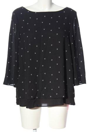 Esprit Schlupf-Bluse schwarz-weiß Casual-Look