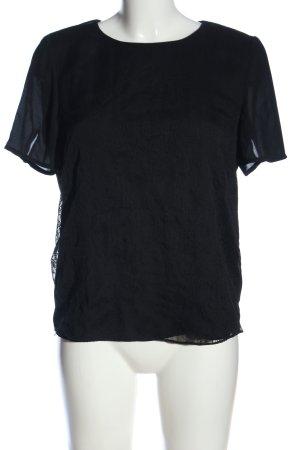 Esprit Schlupf-Bluse schwarz meliert Casual-Look