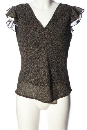 Esprit Schlupf-Bluse schwarz-creme abstraktes Muster Business-Look