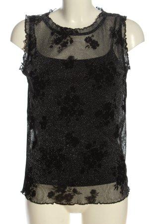 Esprit Schlupf-Bluse schwarz abstraktes Muster Casual-Look