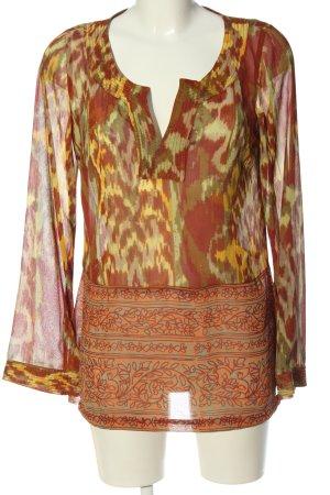 Esprit Schlupf-Bluse abstraktes Muster Casual-Look