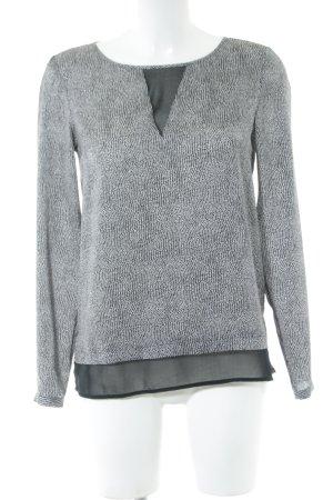 Esprit Schlupf-Bluse hellgrau-schwarz Animalmuster Business-Look