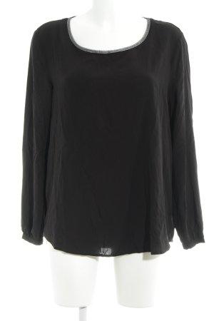 Esprit Schlupf-Bluse schwarz-silberfarben Elegant