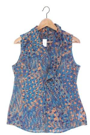 Esprit Tie-neck Blouse blue-neon blue-dark blue-azure polyester