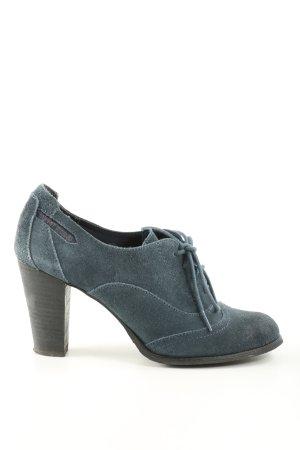Esprit Schnür-Stiefeletten blau Casual-Look
