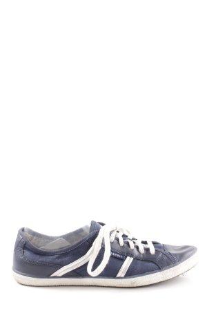 Esprit Schnürschuhe blau-weiß Casual-Look