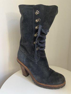 Esprit Lace-up Boots dark blue