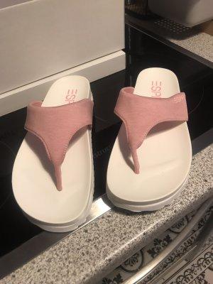 Esprit Sandalias de tacón con talón descubierto rosa