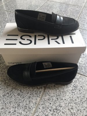Esprit Schuhe  Neu schwarz mit Logoprint Business casual Look