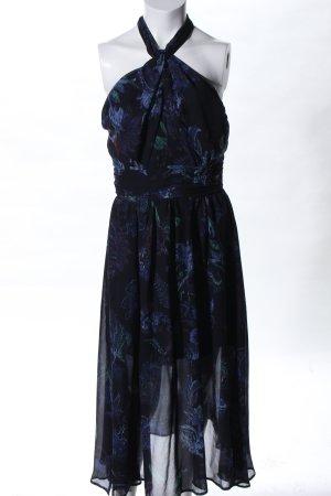 Esprit Abito senza spalle blu-nero stampa integrale elegante