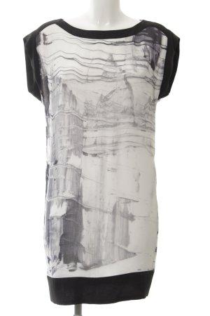 Esprit schulterfreies Kleid abstraktes Muster Casual-Look