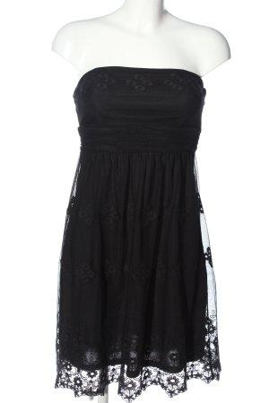Esprit schulterfreies Kleid schwarz Elegant