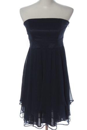 Esprit schulterfreies Kleid schwarz Glanz-Optik