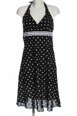 Esprit Halter Dress black-white spot pattern casual look