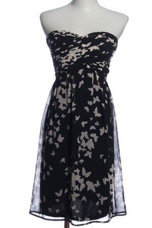 Esprit Off-The-Shoulder Dress black-natural white allover print elegant