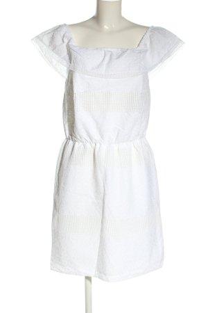 Esprit schulterfreies Kleid weiß Casual-Look