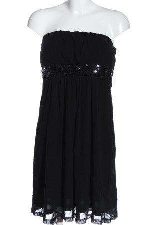 Esprit schulterfreies Kleid schwarz Casual-Look