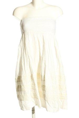 Esprit schulterfreies Kleid wollweiß Casual-Look