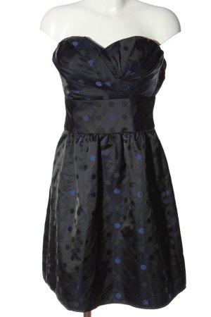 Esprit schulterfreies Kleid schwarz-blau Elegant
