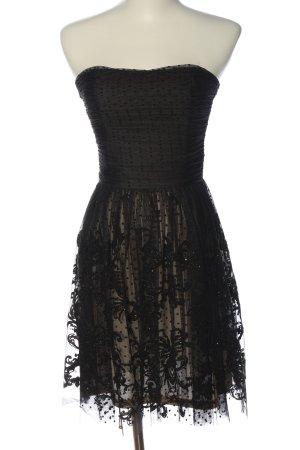 Esprit schulterfreies Kleid schwarz extravaganter Stil