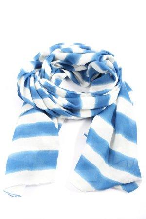 Esprit Châle au tricot blanc-bleu motif rayé style décontracté
