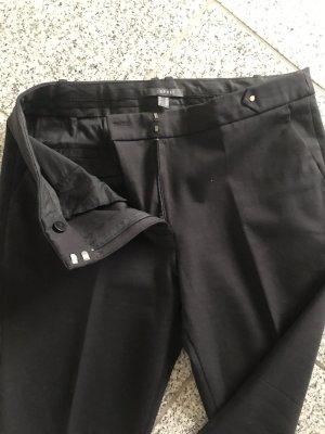 Esprit Pantalon à pinces noir coton