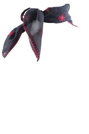Esprit Jedwabna chusta czarny-czerwony Styl klasyczny