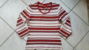 """Esprit Shirt 3/4 Arm """"natur/ rot/ khaki gestreift """" Gr. XL """" neuwertig !!!"""