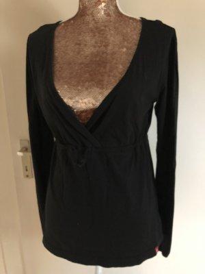 edc by Esprit Camisa con cuello V negro
