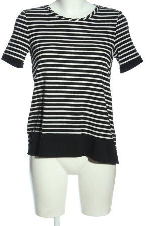 Esprit T-Shirt schwarz-weiß Streifenmuster Casual-Look