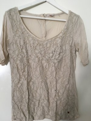 Esprit Crochet Shirt cream