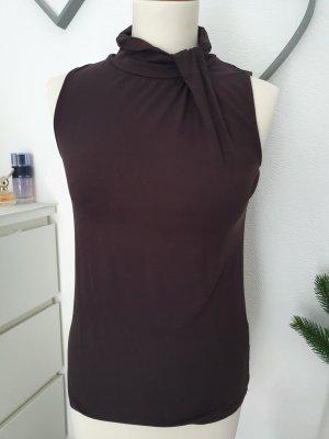 Esprit Koszulka z golfem ciemnobrązowy Tkanina z mieszanych włókien