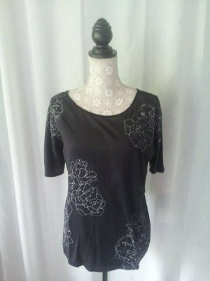 ESPRIT Shirt, Gr. XS, schwarz mit Muster, leicht und angenehm, NP 35€