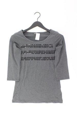Esprit Shirt Größe S 3/4 Ärmel mit Pailletten grau aus Baumwolle
