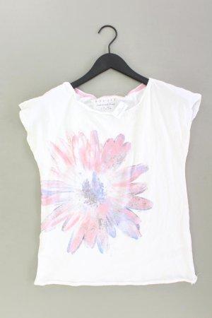 Esprit Shirt Größe S mit Blumenmuster weiß aus Baumwolle