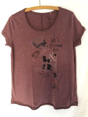 Esprit Shirt M mit Druck, Größe M, rosenholz