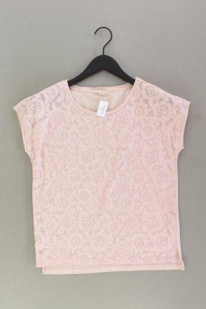 Esprit Shirt mit Spitze Größe 34 neuwertig Kurzarm pink aus Baumwolle