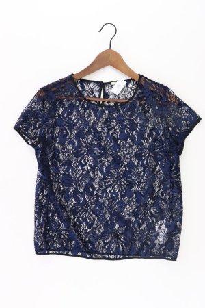 Esprit Shirt mit Spitze Größe M neuwertig Kurzarm blau aus Polyester