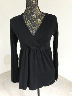 Esprit T-shirt col en V noir coton