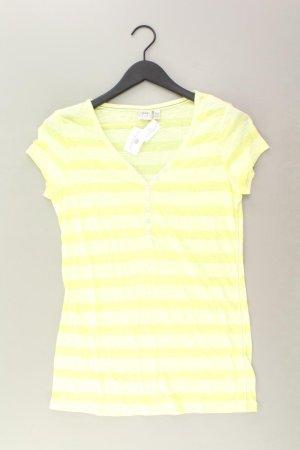 Esprit Shirt mit V-Ausschnitt Größe L Kurzarm gelb aus Polyester