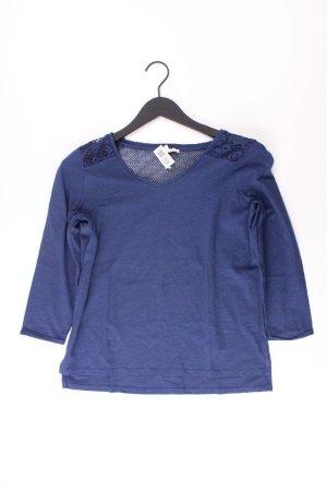 Esprit Shirt mit V-Ausschnitt Größe M 3/4 Ärmel blau aus Baumwolle