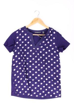 Esprit Shirt mit V-Ausschnitt Größe M Kurzarm blau aus Viskose
