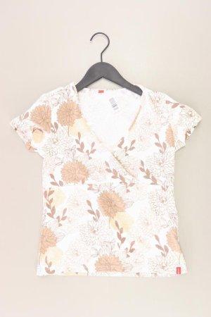 Esprit Shirt mit V-Ausschnitt Größe M Kurzarm braun aus Baumwolle