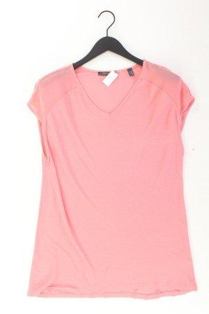 Esprit Shirt mit V-Ausschnitt Größe M Kurzarm rosa aus Viskose
