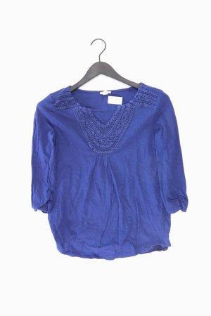 Esprit Shirt mit V-Ausschnitt Größe S 3/4 Ärmel blau