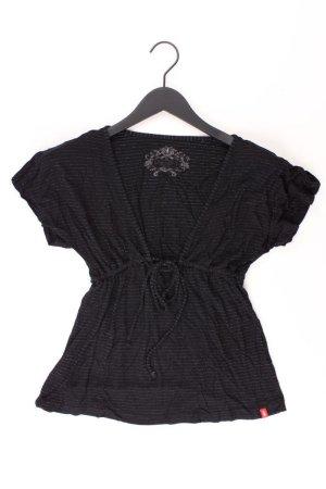 Esprit Shirt mit V-Ausschnitt Größe S Kurzarm schwarz