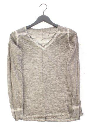 Esprit Shirt mit V-Ausschnitt Größe XS Langarm braun aus Baumwolle